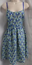 """SARA EMANUEL"" BLUE & GREEN TEXTURED COCKTAIL CASUAL FULL SKIRT DRESS SIZE:4 NWT"