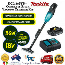 MAKITA DCL180SYB Cordless Stick Vacuum Cleaner Kit with Charger and Battery