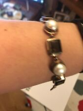 925 Silver Bracelet With Stones And Pearls