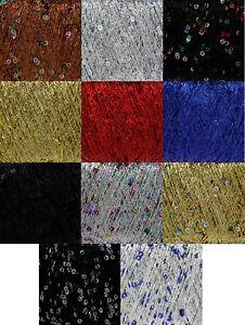 25g King Cole Cosmos Yarn Free Knitting Pattern Metallic Sequin Thread 1 3 6 12