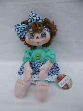 "Hand Painted face, Hand Sewn Cloth Doll 13"" New"