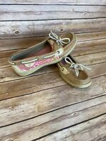 SPERRY Top Sider Boat Shoes Size 7M Womens Brown Leather Loafer Comfort Low top
