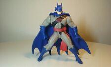 Vintage 1996 D.C. Comics Batman Figure Blue With Action Button 5 inch tall