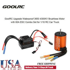 Waterproof Brushless Motor 3650 4300KV w/ ESC Combo Set for 1:10 RC Car Truck US
