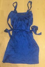 SPORTSGIRL BLUE MULTI-STYLE SILK DRESS SZ. 8