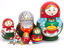 Russian Doll Matryoshka Hand Painted Handmade in Russia Nesting Doll SALE