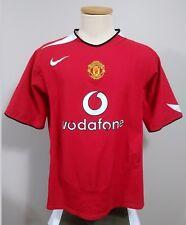 Manchester United Men's XL Vodafone Red Nike Dri-Fit Short Sleeve V Neck Jersey