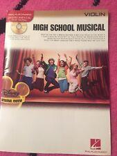 High School Musical Violin Instrumental Play-Along Sheet Music Book/Cd Zac Efron