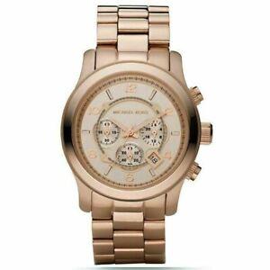 Michael Kors MK8096 Analog Sport Runway Rose Gold Men's Gents Quartz Watch