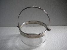 Compotier cristal et métal argenté