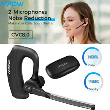 Mpow Wireless Bluetooth Headphones Headset Car Earpiece dual-Mic Handsfree Siri