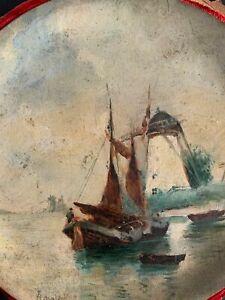 Pair of marine paintings