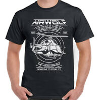 Airwolf Mens 80's Retro TV Programme T-Shirt Helicopter Drama Show Chopper