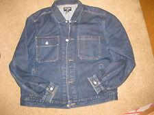 RAlph Lauren heavy denim  blue jean jacket  size xl EUC