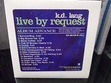 KD Lang - Live By Request PROMO CD Album Advance RARE