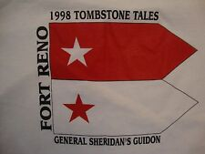 Vintage Historic Fort Reno 1998 Tombstone Tales White Cotton T Shirt Size 2XL