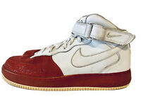 Nike 315123-113 Air Force 1 Mid  Size 13 Men Sneakers - Red White. 2008