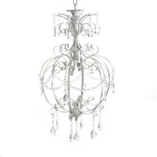 Lustre Antique Blanc Shabby Chic un Bras Suspension Maison de Campagne