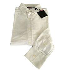 VINTAGE 55 linea LUXURY BASIC camicia uomo Oxford bianca 100% cotone slim L