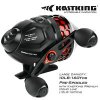 KastKing Brutus High Speed Spincast Fishing Reel + 10lb/130yds Monofilament Line