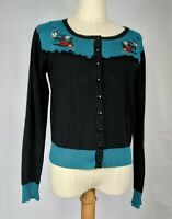 Banned apparel cardigan size L 14 Swallows cherries Pin Up Rockabilly 50s Kitch