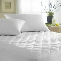 Quilted Mattress Protector Fitted Sheet Bed Cover Single Small Double King Sizes