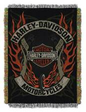 Harley-Davidson Outlaw Woven Tapestry Throw Blanket, 48 x 60 Inches NW992900