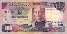 BILLET BANQUE ANGOLA 1000 escudos 1972 état voir scan 204