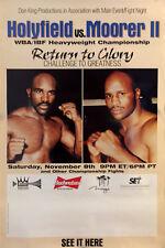 Original Vintage Evander Holyfield vs Michael Moorer II CC Boxing Fight Poster
