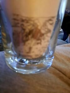 2 x Johnnie walker gold leaf scotch whisky glasses (old 70s )