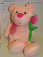 "Dan Dee  Pink Bear Plush Rose Valentine's Day 16"" Soft 2013"