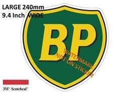 VINTAGE BP FUEL GASOLINE PETROL BOWSER DECAL STICKER LABEL LARGE 240 MM