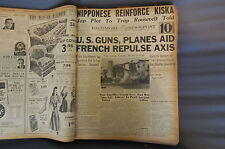 WW2 NEWSPAPER January 4 1943 French Repulse Axis In Africa With US Guns BNP 10