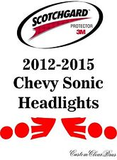 3M Scotchgard Paint Protection Film Pre-Cut Headlights Kit 2012 2015 Chevy Sonic