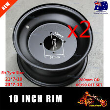 2 x 10 Inch Front Steel Rim Wheel fits 21x7-10 23x7-10 Tyres Buggy Trailer ATV