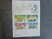 1992 THAILAND APOC ORCHIDS 4 STAMP MINI SHEET MNH IMPERF #2