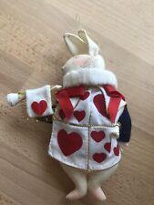 "Gladys Boalt Christmas Ornament ""Herald Rabbit"" 1980 Alice in Wonderland Series"