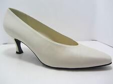 Stuart Weitzman Vintage Ivory/Cream High Heels Pumps sz 9 Bridal Evening Wedding
