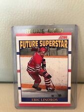 1990 SCORE ERIC LINDROS ROOKIE CARD #440.