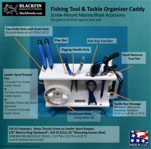 FISHING TOOL HOLDER & TACKLE / LEADER ORGANIZER CADDY - MARINE BOAT ORGANIZER