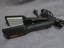 """2"""" Babyliss Pro Flat Iron Hair Straightener & Crimper 2 in 1 Combo Black BAB412A"""