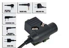 Z-TACTICAL U94 PTT Military Headset adaptor MOTOROLA 2 PIN AIRSOFT SOFTAIR