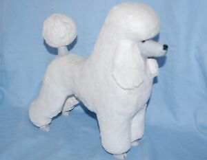 "Gunilla Agronius Sweden White Poodle Pottery sculpture / figure 11"" in height"