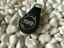 BLACK LEATHER KEYRING WITH PRINTED TVR LOGO NEW