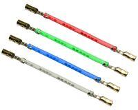 Analogis Headshell-Kabel Set HC Gold für Technics SL-1200   1210 u.a. NEU & OVP