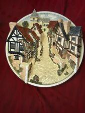 David Winter Cottages Collectors Guild Piece 3D Plaque Street Scene - John Hine