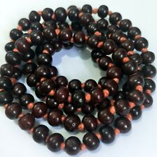 """8 MM 108 Beads Red Chandan Mala/Sandalwood Rosary String Necklace 33"""" Inches"""