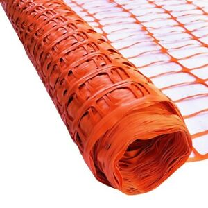 ALEKO PVC Mesh Net Guard 3 X 165 Ft  Multipurpose Safety Fence Barrier Orange