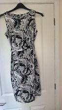 H&M Black & White Cotton  Wiggle Pencil UK Size 12
