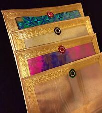 10 X Gold Wedding Lehanga Suits Saree Storage Gift Bags-Indian Wedding Accessory